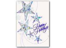 White Shimmer Holiday Cards